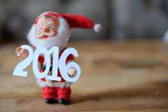 Feliz Año Nuevo 2016, Santa Claus Imágenes de archivo libres de regalías