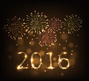 Feliz Año Nuevo 2016t Imagenes de archivo