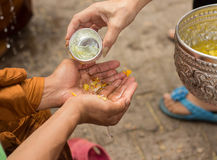 Feliz Año Nuevo Tailandia y Laos del festival de SongKran Fotos de archivo libres de regalías