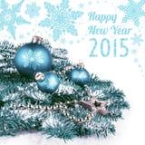 Feliz Año Nuevo 2015, tarjeta de felicitación Imagenes de archivo