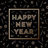 Feliz Año Nuevo Tarjeta de felicitación con Feliz Año Nuevo de la inscripción ilustración del vector