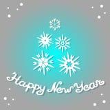 Feliz Año Nuevo 2017 Tarjeta de felicitación del diseño Foto de archivo