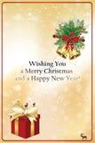Feliz Año Nuevo 2017 - tarjeta de felicitación elegante Fotografía de archivo