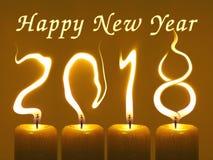 Feliz Año Nuevo 2018 - velas Imagenes de archivo