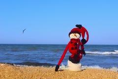 Feliz Año Nuevo y destinos que viajan de la Feliz Navidad, concepto tropical de las vacaciones Fotografía de archivo libre de regalías
