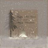 Feliz Año Nuevo y feliz Hrostmas Fotografía de archivo
