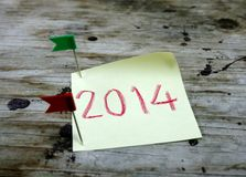 Feliz Año Nuevo 2014 y Feliz Navidad Foto de archivo