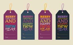 Feliz Año Nuevo y Feliz Navidad Foto de archivo