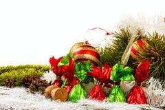 Feliz Año Nuevo y Feliz Navidad Foto de archivo libre de regalías