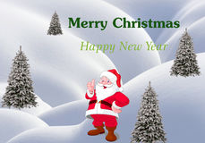 Feliz Año Nuevo y Feliz Navidad ilustración del vector