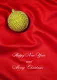 Feliz Año Nuevo y Feliz Navidad Fotografía de archivo libre de regalías