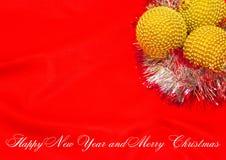 Feliz Año Nuevo y Feliz Navidad Fotos de archivo