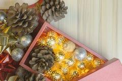 Feliz Año Nuevo y fondo de la imagen de la celebración de la Navidad foto de archivo