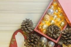 Feliz Año Nuevo y fondo de la imagen de la celebración de la Navidad imagenes de archivo