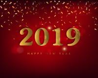 Feliz Año Nuevo 2019 y Feliz Navidad libre illustration