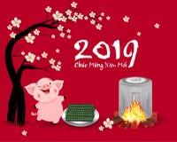 Feliz Año Nuevo 2019 y Feliz Navidad en vietnamita