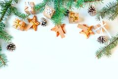 Feliz Año Nuevo y Feliz Navidad Fondo Imagen de archivo libre de regalías