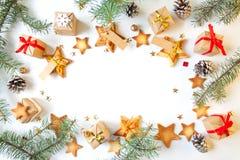 Feliz Año Nuevo y Feliz Navidad Fondo Imagenes de archivo