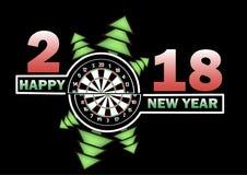 Feliz Año Nuevo y tablero de dardos libre illustration