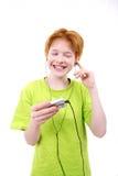 Feliz adolescente rojo Fotografía de archivo