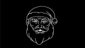 Feliz animación de dibujo de Navidad de Santa Claus Transform 2.a almacen de video
