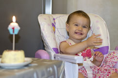 Feliz aniversário meu bebê pequeno Fotografia de Stock Royalty Free