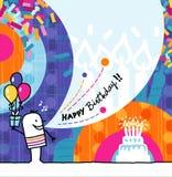 Feliz aniversario ilustração royalty free