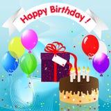 Feliz aniversario! ilustração do vetor