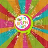Feliz aniversario Imagem de Stock Royalty Free