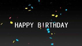 Feliz aniversario video estoque