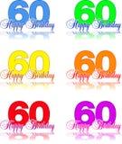 Feliz aniversario 60 Imagens de Stock Royalty Free
