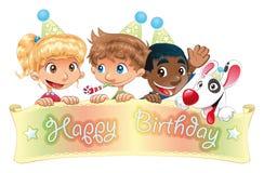 Feliz aniversario ilustração stock