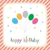 Feliz aniversario card2 de cumprimento Foto de Stock Royalty Free