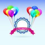 Feliz aniversario Cartão da ilustração com Fotos de Stock