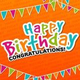Feliz aniversario - cartão das felicitações Fotografia de Stock Royalty Free
