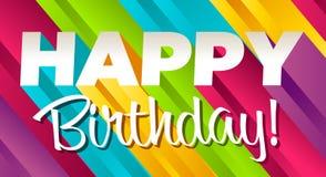 Feliz aniversario colorido ilustração royalty free
