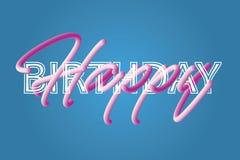 feliz aniversario com tipo dois de letras Foto de Stock Royalty Free
