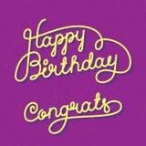 Feliz aniversario Congrats Imagens de Stock