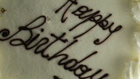 Feliz aniversario do bolo video estoque
