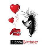 Feliz aniversario do cartão Fotografia de Stock Royalty Free