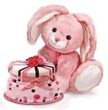 Feliz aniversario do coelho Fotos de Stock Royalty Free