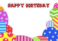Feliz aniversario do fundo Imagem de Stock