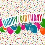 Feliz aniversario dtodos nós cartão Imagem de Stock