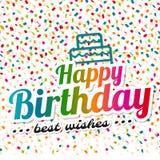 Feliz aniversario e cumprimentos cartão Fotos de Stock