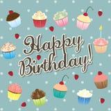 Feliz aniversario! - ilustração do cartão de aniversário Foto de Stock