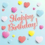 Feliz aniversario! - ilustração do cartão de aniversário Fotografia de Stock