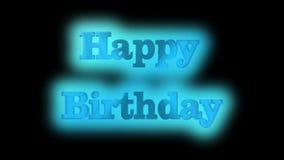 Feliz aniversario, a melhor 3D ilustração, a melhor animação vídeos de arquivo