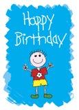 Feliz aniversario - menino Imagens de Stock Royalty Free