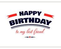 Feliz aniversario a meu melhor amigo Imagens de Stock Royalty Free