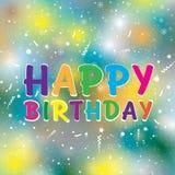 Feliz aniversario no fundo colorido Feliz aniversario Foto de Stock
